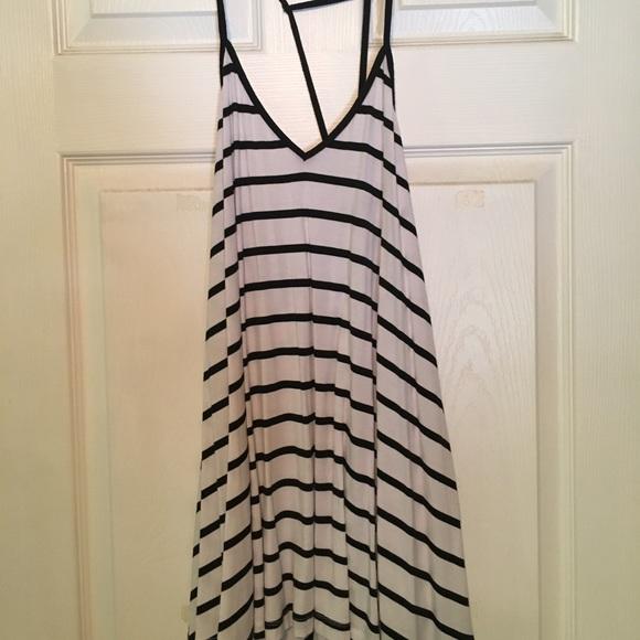 LF Dresses & Skirts - black stripe mini dress from LF
